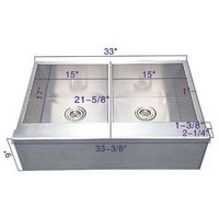 Stainless Steel Farmhouse Sink with Apron