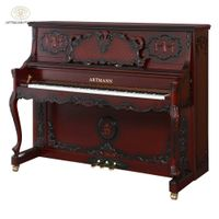 Shanghai Artmann mechanical red wood color 88 keys GD-125C1 archaic vertical upright piano
