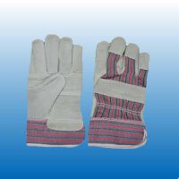 leather work gloves with stripe cotton fabric(C2026) thumbnail image