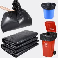 Customize industrial waste heat seal black plastic Heavy duty trash bags