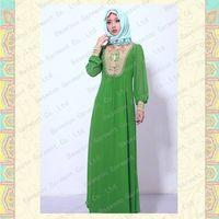 2013 new design embroidered kaftan dresses islam MF18696