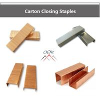 Carton closing staples