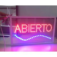 Glass LED Sign Square Full Color Animation Transparent Indoor LED Sign