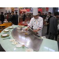 Fan Shape Teppanyaki Grill Table