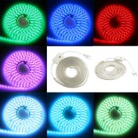 Waterproof IP67 220V 5050 SMD led strip 60leds/m Flexible Strip Light with Power plug white color thumbnail image