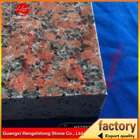 polished maple red granite slabs for kerbstone