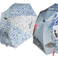 special umbrella for fishing sites is made of reflect fabric
