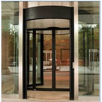 Pard-TF2000C The Two Wing Automatic Revolving Door-Case on Both Sides with Sliding Door in the Middl thumbnail image