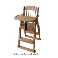 Wooden baby table and chair thumbnail image