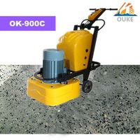 OK-900C concrete floor grinding and vacuum cleaner machine
