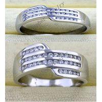 Tophe Jewelry 925 silver rings pair rings CZ rings
