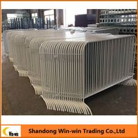 Galvanized Crowd control barrier/Portable fence/Crowd Barricading