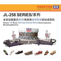 Rotary 1/2 Color String-lasted Shoe Direct Injection Moulding Machine