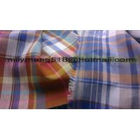 Pure Linen Indathrene Delave Check Shirting Fabric