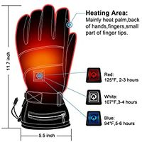 High Quality Fashion Winter Waterproof Warm Heated Sport Gloves for Motorcycle Hunting Skiing thumbnail image