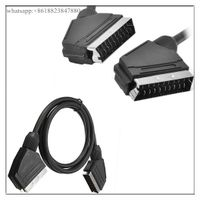 1.5m 21 Pin Scart Cable Lead Wire Male to Male for Video DVD TV VCR