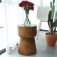 Nordic log pier solid wooden stool set solid wooden pier large board support stump stump square wood