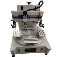 4 stations small screen printing machine