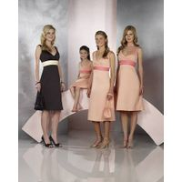 wholesale satin sleeveless bridemaid and flower girl gowns thumbnail image