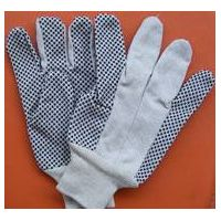 Cotton Drill Work Gloves With Pvc Dots (PM-GPD-01)