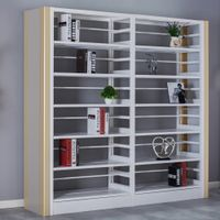 Double Column and Double Side Metal Book Shelf
