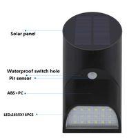 Waterproof led wall mounted solar motion sensor garden security light thumbnail image