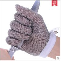 Anti cut gloves class 5,stainless steel mesh glove,GY1702,EN 10082 Standard safety gloves