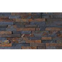 Black rusty slate culture stone panel thumbnail image