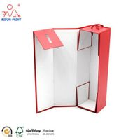 custom luxury red wine bottle cardboard paper gift spirit box packaging thumbnail image