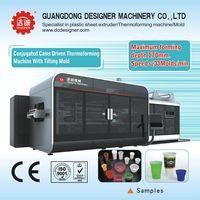 Auto plastic cup thermoforming machine