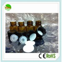 1ml glass bottle vials with screw cap, empty tube glass bottle