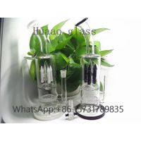 12 inches Hand blown 5mm hand blown glass water pipes High quality borosilicate glass black white