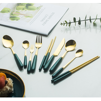 stainless steel cutlery set spoon fork and knife, matted cutlery,flatware thumbnail image