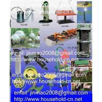 Flower sprayer. Flower holder, Garden kneeler. Watering can. Bird Feeder. Plant support, Hose holder