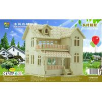 Sell-Towins the pop puzzle beautiful house model modern country small toy wooden house
