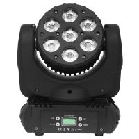 7*12W RGBW LED Moving Head Wash Light