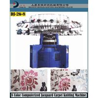 8 color Jacquard carpet knitting machine