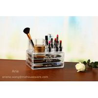 High class Acrylic Makeup Organizer with 3 Drawer and top