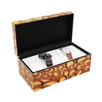 Collection Classical Mix Color Watch Case Storage Display Box watch storage display box  thumbnail image