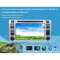 "6.2""Car Dvd Gps Navigation Radio Audio Bluetooth TV AM FM Vehicle Navigation For HYUNDAI SANTA FE 20 thumbnail image"