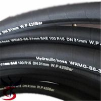 SAE J517 100 R15 heavy duty six layers steel wire spiral hydraulic hose thumbnail image