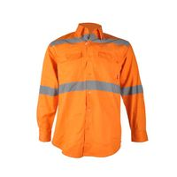 100% Cotton High Visibility Long Sleeve Button Reflective Safety Shirts
