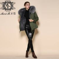 2015 Newest design army style down coat with fur hooded unisex fur down coat
