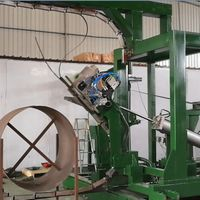 Automatic Steel Bundling Machinery For Vertical Strapping Of Steel Coils