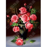 Unique hot sale 3d lenticular wall hanging picture of flowers