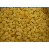 frozen diced yellow peach