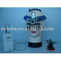 surgical headlight with loupe thumbnail image