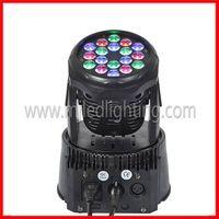 18pcs 3w rgb mini led moving head light thumbnail image