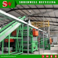 Automatic Crumb Rubber Tyre Recycling System Hot Sale
