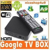 Smart Android 4.0 TV Set Top Box/Cortex A9 1GHz CPU/DDR3 1GB/4GB Nand/Wi-Fi/3D/1080P/HDMI/IR remote thumbnail image